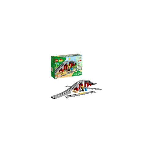 Lego 10872 Eisenbahnbrücke und Schienen Bausatz, Mehrfarbig
