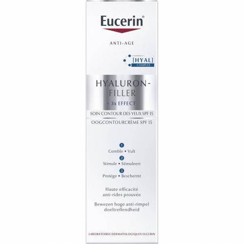 Eucerin Hyaluron-Filler X3 Augenkontur-Creme SPF15