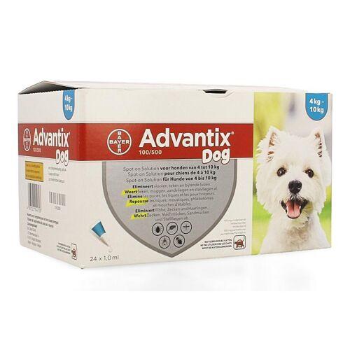 Advantix 100/500 Hunde 4-10kg Spot-on