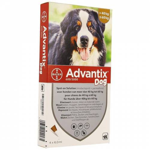 Advantix 600/3000 Hunde 40-60kg Spot-on