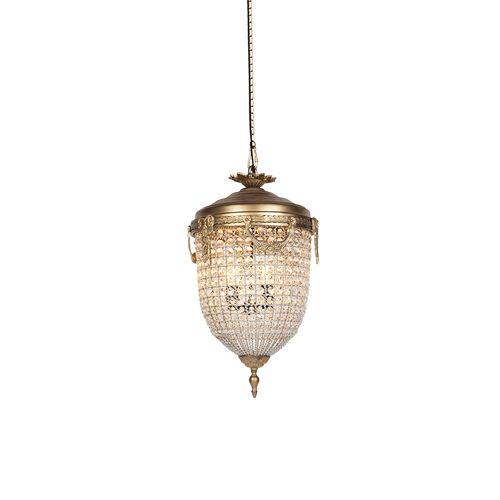 QAZQA Art Deco Hängelampenkristall mit Gold 40 cm - Cesar