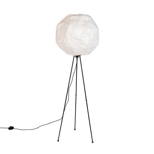 QAZQA Skandinavische Papier Stehlampe weiß - Pepa Ball