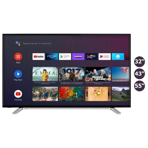 Toshiba Smart TV Fernseher (Prime Video / Netflix, HDR 10 + HLG, Bluetooth, WLAN, Triple Tuner, HD+)