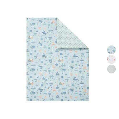 LUPILU® Babydecke zum Wenden, 72 x 97 cm, mit Baumwolle
