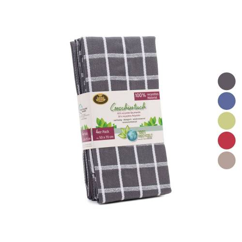 Gözze Geschirrtücher 4er-Pack, recycelt, 50 x 70 cm