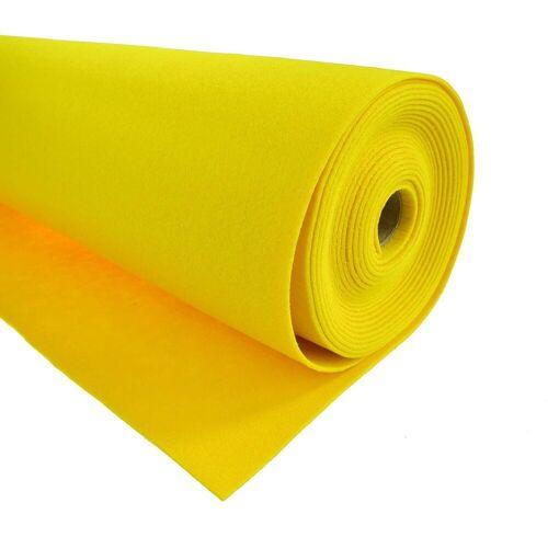 maDDma Stoff »1m Bastelfilz waschbar Meterware Filz 90cm x 1,5mm Dekofilz Filzstoff 27 Farben«, zitronengelb, zitronengelb