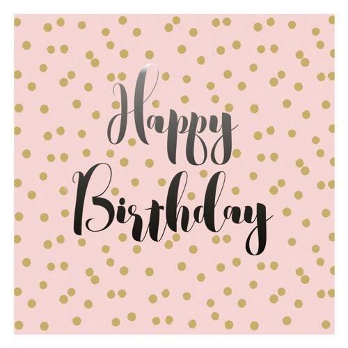 PPD Papierserviette »Birthday Confetti Rosé 20 Stück 33 cm«