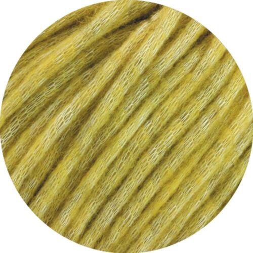 LANA GROSSA »Landlust Winterwolle« Effektgarn, (50 Gramm), gefülltes Schlauchgarn, Zitronengelb Meliert - 001