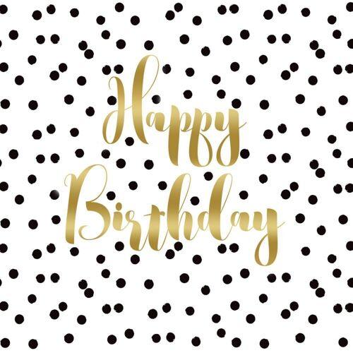 PPD Papierserviette »Birthday Confetti 20 Stück 33 cm«