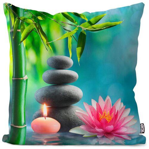 VOID Kissenbezug, (1 Stück), Spa Entspannung Therapie Kissenbezug Spa Entspannung Therapie Wasser Lotus Saun