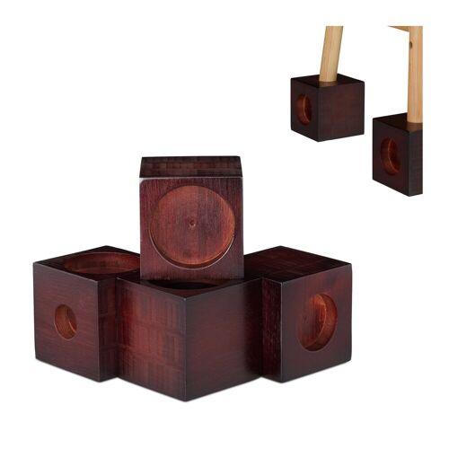 relaxdays Erhöhungs-Set »Möbelerhöhung Bambus 4er Set«