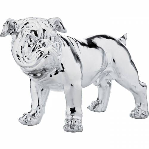 KARE Dekoobjekt »Deko Figur Bulldogge Silber Smart 42cm«
