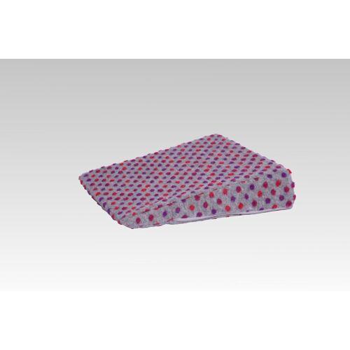 Licardo Keilkissen »Therapiekeil Wolle Noppen 40 x 40 x8/1 cm«, silber