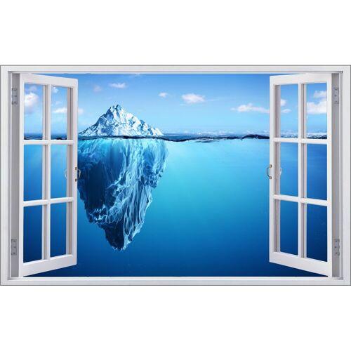 DesFoli Wandtattoo »Eisberg Meer Spiegelung F1344« 110 cm x 70 cm;150 cm x 98 cm;173 cm x 113 cm;60 cm x 38 cm;90 cm x 58 cm