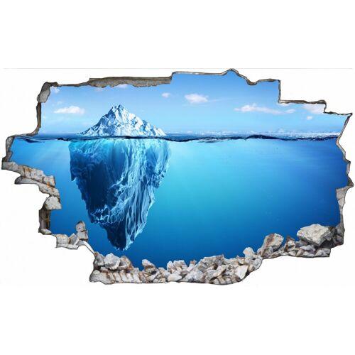 DesFoli Wandtattoo »Eisberg Meer Spiegelung C1344« 100 cm x 70 cm;150 cm x 100 cm;170 cm x 113 cm;60 cm x 36 cm;90 cm x 56 cm
