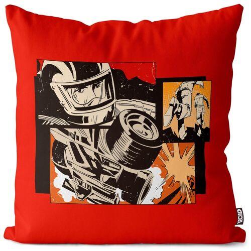 VOID Kissenbezug, (1 Stück), Comic Rennsport Pop Art Kissenbezug Comic Rennsport Pop Art Pop Art Superheld H 40 cm x 40 cm;50 cm x 50 cm;60 cm x 60 cm;80 cm x 80 cm
