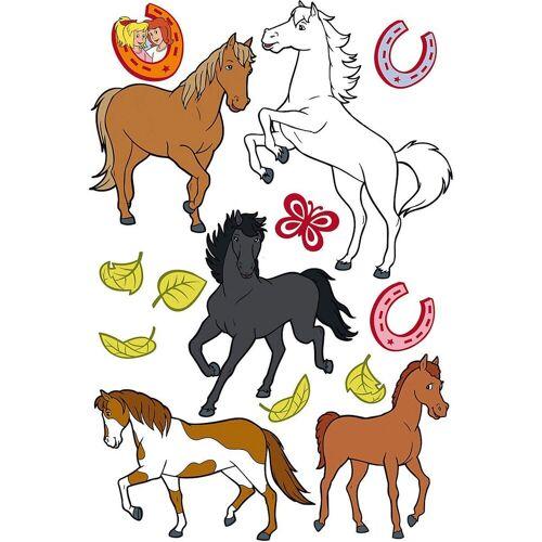 Bibi und Tina Wandtattoo »Wandtattoo , Pferde, 14-tlg.«