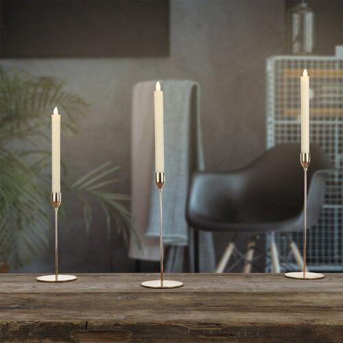 MARELIDA Kerzenhalter »Stabkerzenhalter roségold 3er Set Kerzenständer Tafelkerzenhalter Kerzenhalter«