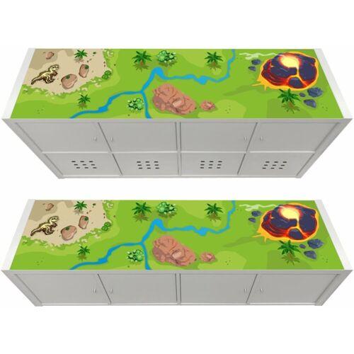 STIKKIPIX Möbelfolie »KSWL19«, (MÖBEL NICHT INKLUSIVE) Dinosaurier Möbelfolie, passend für das Regal KALLAX von IKEA