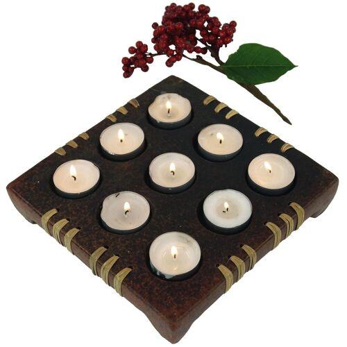 Guru-Shop Windlicht »Kerzenhalter, Teelichthalter Keramik Nr.5«