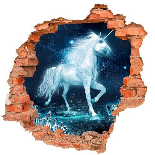 DesFoli Wandtattoo »Einhorn Fantasy Kristalle B0719« 110 cm x 106 cm;50 cm x 48 cm;60 cm x 58 cm;70 cm x 68 cm;90 cm x 87 cm