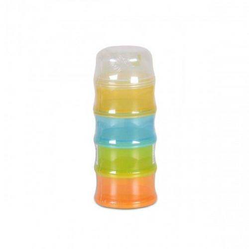 Moni Babyflasche »Milchpulverbehälter, Milchpulver-Portionierer M1502«, mit 4 Fächern, BPA-frei