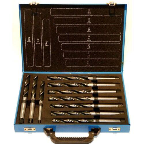 PeTools Metallbohrer »MK Bohrer 10 tlg. HSS Konus-Bohrer 14-23mm, Morsekegel MK1 + MK2, Spiral-Bohrer«, (10-tlg)