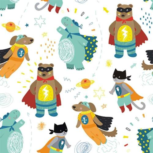 Linoows Papierserviette »20 Servietten, Märchen Superhelden mit flotten«, Motiv Märchen Superhelden mit flotten Kostümen