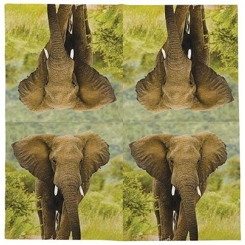 Linoows Papierserviette »20 Servietten Elefant, Afrikanische Tiere der«, Motiv Elefant, Afrikanische Tiere der Elefant