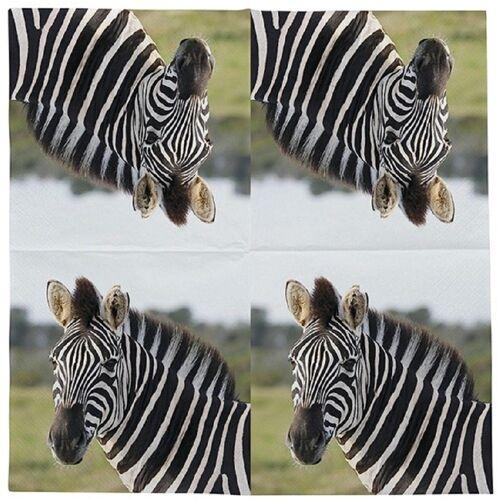 Linoows Papierserviette »20 Servietten Zebra, Afrikanische Tiere das Zebra«, Motiv Afrikanische Tiere das Zebra