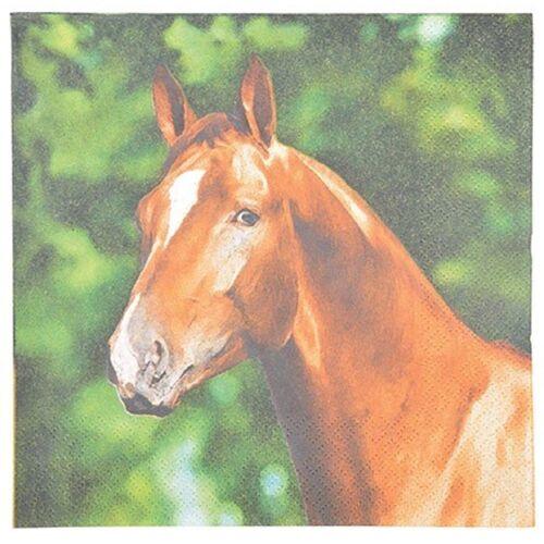 Linoows Papierserviette »20 Servietten Pferdeportrait, Pferd auf dem Bauern«, Motiv Pferdeportrait, Pferd auf dem Bauernhof