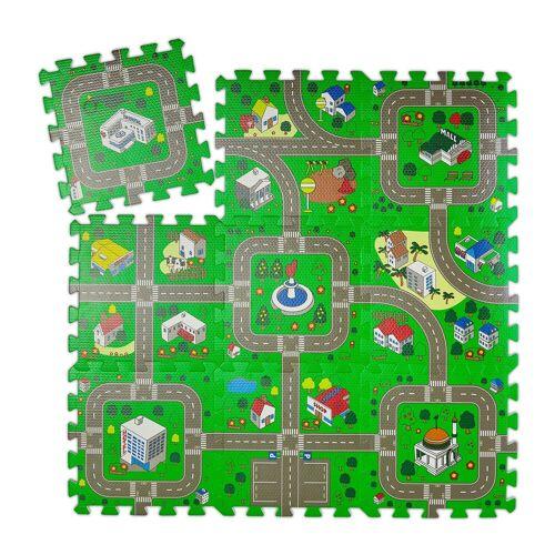 relaxdays Puzzlematte »Puzzlematte Straße für Kinder«, Puzzleteile