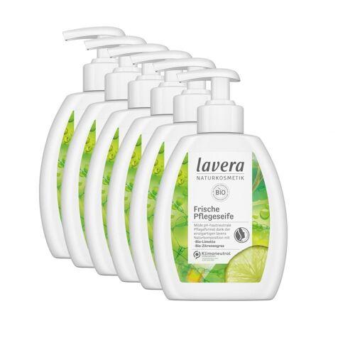 lavera Flüssigseife, 6-tlg., Frische Pflegeseife Flüssigseife Bio-Limette & Bio-Zitronengras
