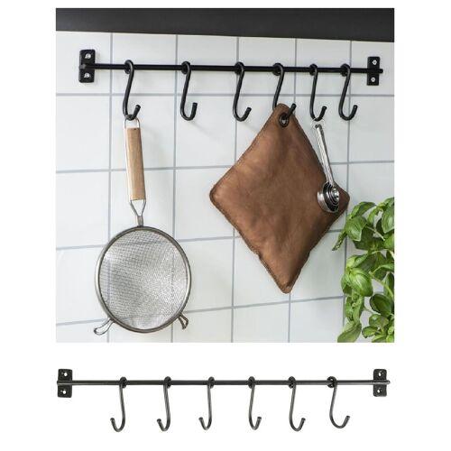 Ib Laursen Wandhaken »Hakenleiste Küchenleiste Küchenreling Wandhaken Kleiderhaken 0560 25«,