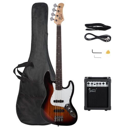 Glarry E-Bass »GJazz«, Elektrobass E Bass E-bass Bassgitarre Longscale 4 Saiter Tasche 20w VerstÄrker