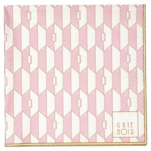 Greengate Stoffserviette »Gate Noir Servietten Aurelie Pale Pink groß«