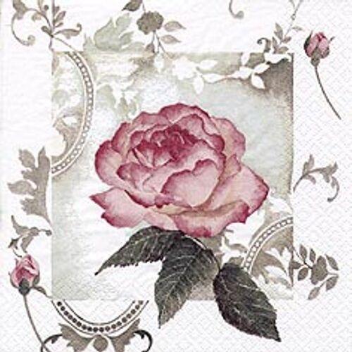 Linoows Papierserviette »Servietten 20 Stück, Bezaubernde Vintage Rose,«, Motiv Bezaubernde Vintage Rose