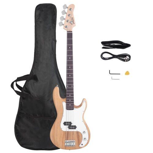 Glarry E-Bass »GP«, Elektrobass E-Bass GP Bassgitarre E Bass mit Tragetasche