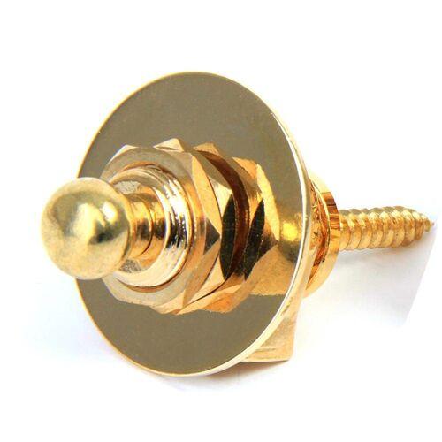 Masbekte Gitarrengurt, 1 x Gitarre Lock Security Strap, Gitarrengurte Gurtknopf, Gurtpins, Gitarren, Bässe, Gold