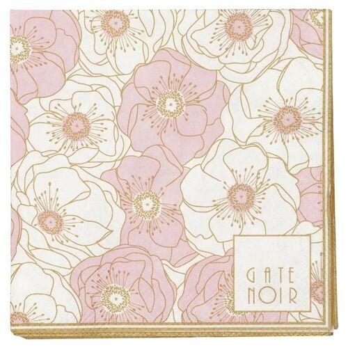 Greengate Stoffserviette »Gate Noir Servietten Flori Pale Pink klein«