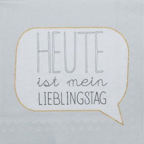 """Räder Design Papierserviette »DINING COCKTAILSERVIETTEN """"LIEBLINGSTAG""""«"""