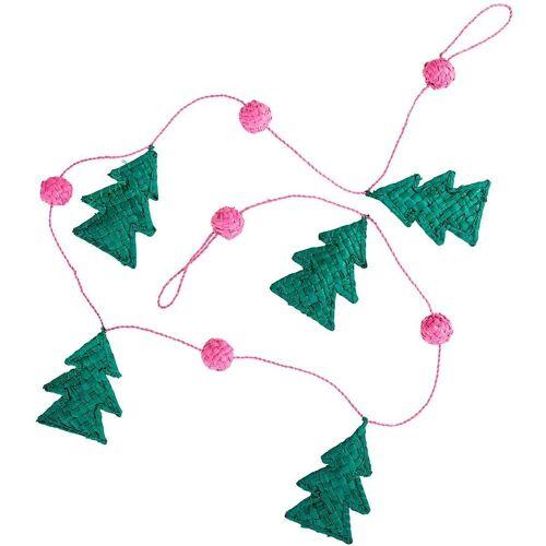 """rice Kunstgirlande »Bast-Girlande""""Christmas Tree"""", L100cm«, , pink"""