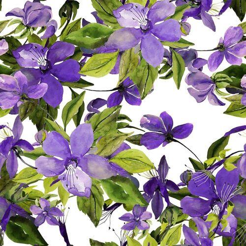 Linoows Papierserviette »20 Servietten, Blühende violette Clematis, 33x33«, Motiv Blühende violette Clematis