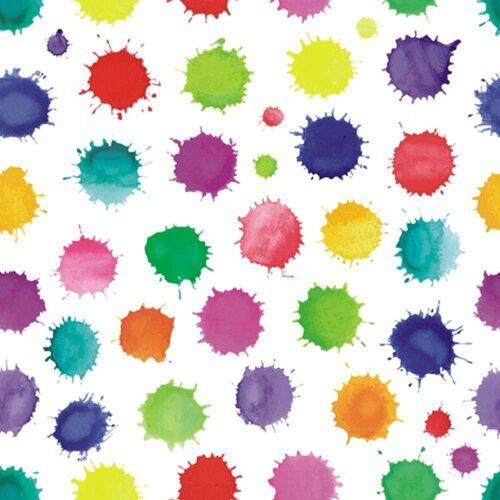 Linoows Papierserviette »20 Servietten Kinderfeier, Bunte Spritzer, Bunte«, Motiv Kinderfeier, Bunte Spritzer, Bunte Farbkleckse