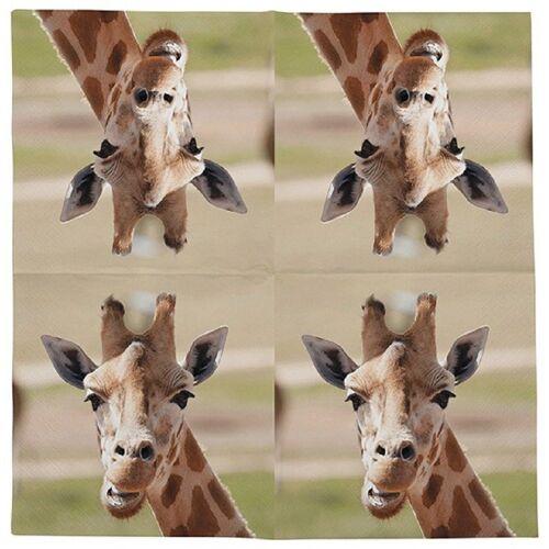 Linoows Papierserviette »20 Servietten Giraffe Afrikanische Tiere die Giraf«, Motiv Giraffe Afrikanische Tiere die Giraffe