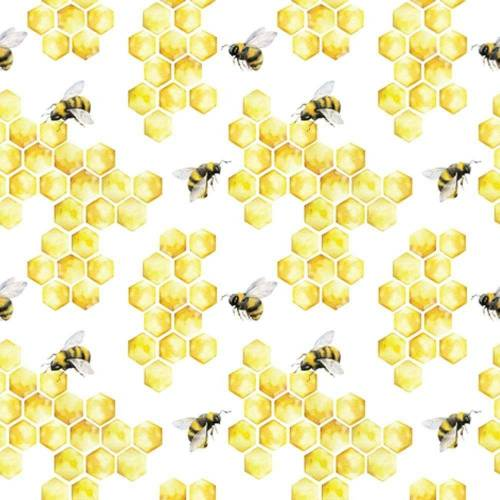 Linoows Papierserviette »20 Servietten, Nutztiere, die Honigbiene, Bienen«, Motiv Nutztiere, die Honigbiene