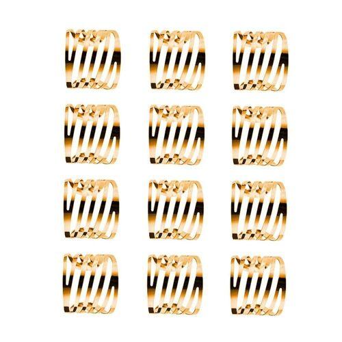 Masbekte Serviettenring, (12-tlg), 1 / 12 Serviettenringe Set, Esszimmer, Formal Dekoration, Metall, Tisch Serviettenhalter, Gold