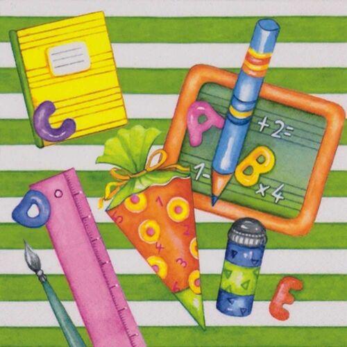 Linoows Papierserviette »20 Servietten Einschulung, Willkommen in der Schul«, Motiv Einschulung, Willkommen in der Schule