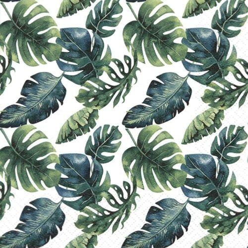 Linoows Papierserviette »20 Servietten, Dschungelblätter, Tropen, Sommer,«, Motiv Dschungelblätter, Tropen, Sommer, Urlaub