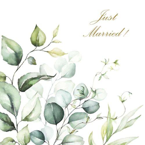 Linoows Papierserviette »20 Servietten, Zur Hochzeit, Just Married und«, Motiv Zur Hochzeit, Just Married